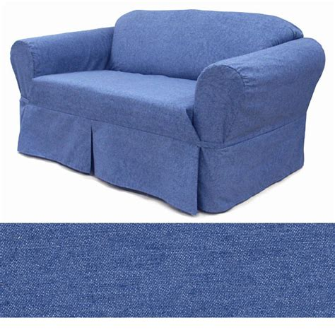 denim slipcovers for sofas washed denim sofa slipcover ebay