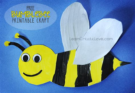 bee crafts for printable bumblebee craft