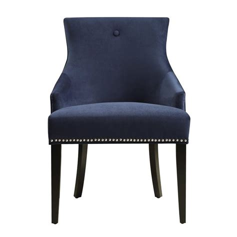 navy blue accent chairs pri accent chair in navy blue ds 2520 900 393