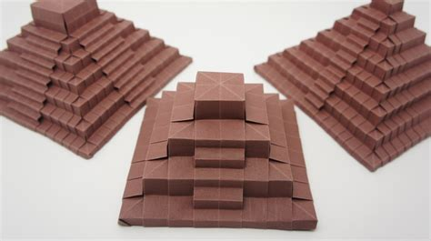 origami pyramid origami ancient pyramid jo nakashima