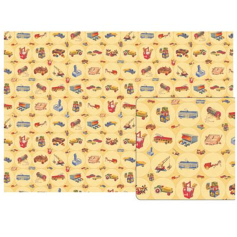 wrapping paper decoupage vintage toys poster decoupage gift wrap 20 x 28