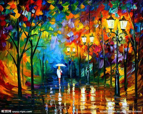 paint nite delaware 油画 雨夜漫步设计图 绘画书法 文化艺术 设计图库 昵图网nipic