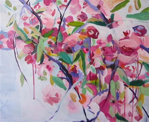 acrylic painting cherry blossom buy original by colette wirz nauke acrylic painting