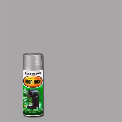 home depot heat resistant paint rust oleum specialty 12 oz silver high heat spray paint