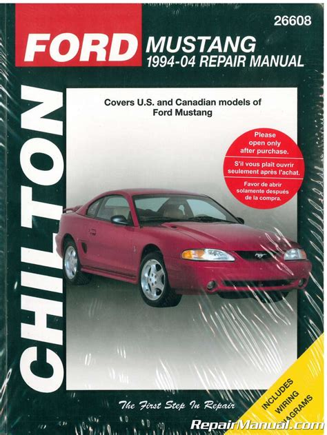 service manual where to buy car manuals 2004 chevrolet classic security system service chilton ford mustang 1994 2004 car repair manual