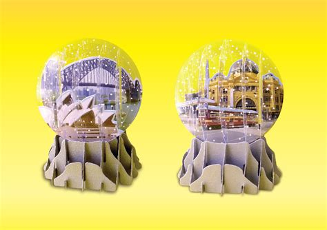snow globe melbourne foldable snow globe promotional products