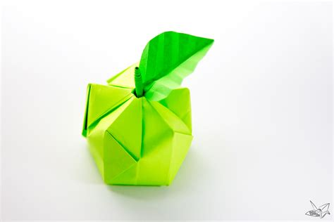 origami apple 3d origami apple leaf tutorial paper kawaii
