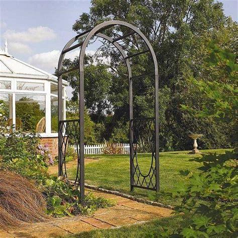Garden Arch Materials Wrenbury Top Metal Garden Arch Decorative Garden