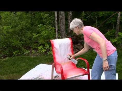 spray painting outside while spray paint outdoor chairs sunset