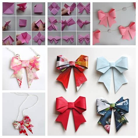origami bow wonderful diy origami paper bow