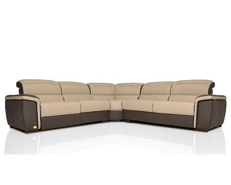 italian leather sectional sofa modern italian leather sectional sofa w recliners