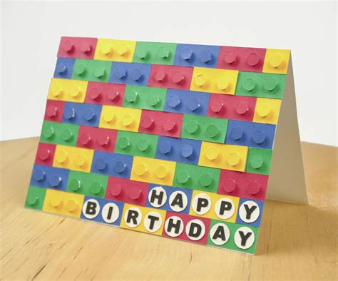 paper craft birthday 3d paper lego birthday card allfreepapercrafts