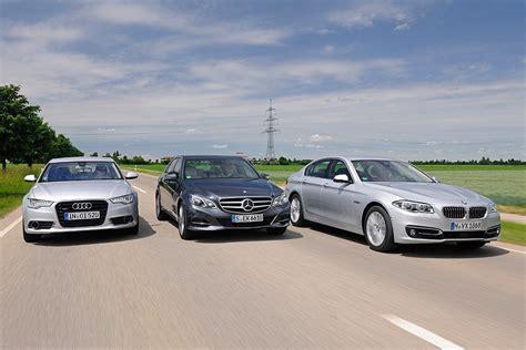 Mercedes Vs Audi by Bmw 535d Vs Audi A6 Tdi And Mercedes E250 Bluetec