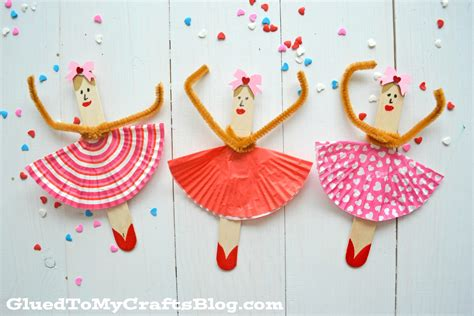 pictures of crafts popsicle stick ballerinas kid craft glued to my crafts