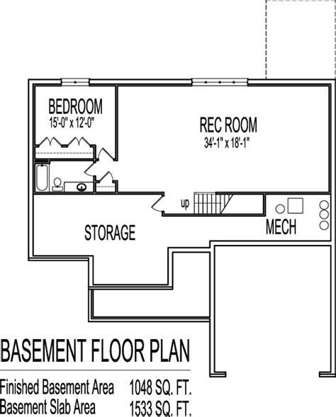 3 bedroom floor plans with basement 3 bedroom house plans with basement smalltowndjs