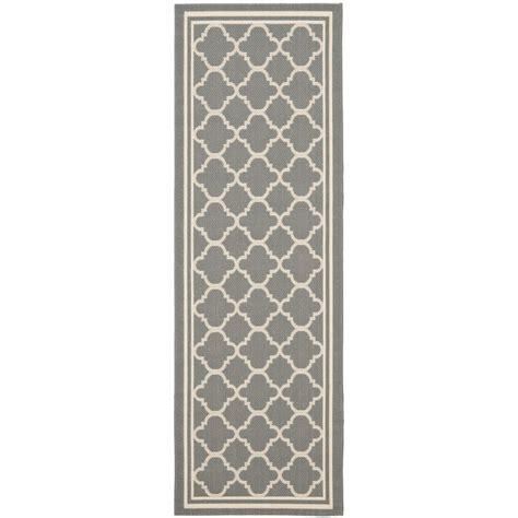 outdoor rug runner safavieh anthracite gray beige indoor outdoor runner rug