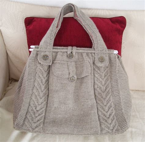 free knitting patterns for bags totes knitted creations cable tote