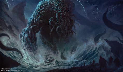 paint deviantart cthulhu painting by tentaclesandteeth on deviantart
