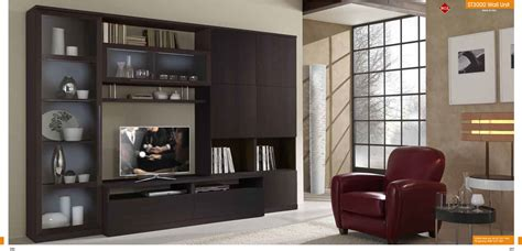 wall furniture st 3000 wall unit in wenge finish by mcs furniture made