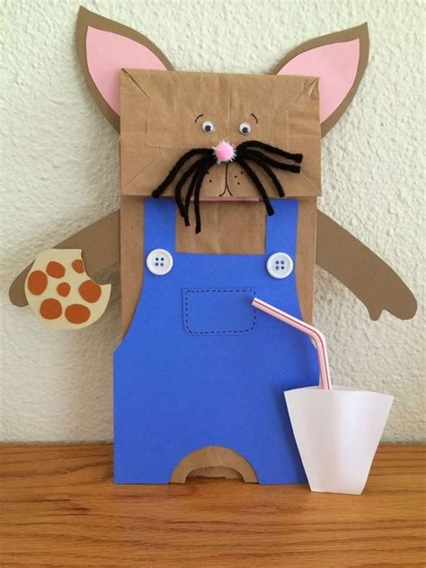 mouse paper craft quot if you give a mouse a cookie quot by numeroff paper