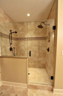 showers in bathrooms best 25 half wall shower ideas on bathroom