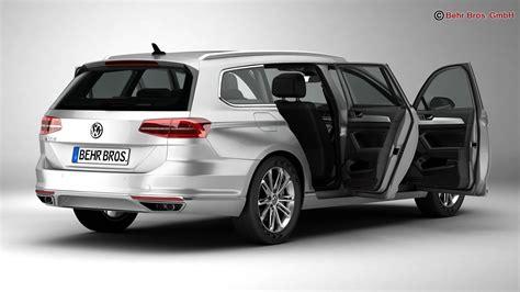 Volkswagen 2015 Models by Volkswagen Passat Variant 2015 3d Model