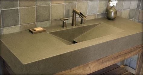 Best Brand Kitchen Faucet polished concrete sink