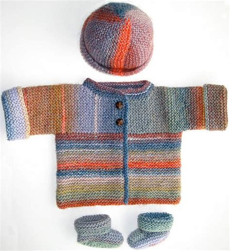 ravelry free baby knitting patterns sideways knit cardigan hat booties by brand