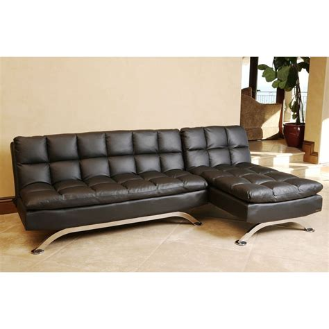 black sectional sofa bed abbyson living vienna black leather sofa bed and chaise