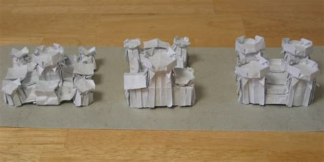 origami castle zing origami objects and things