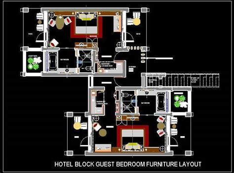 1 Bedroom Cottage Floor Plans hotel guest room furniture layout plan n design
