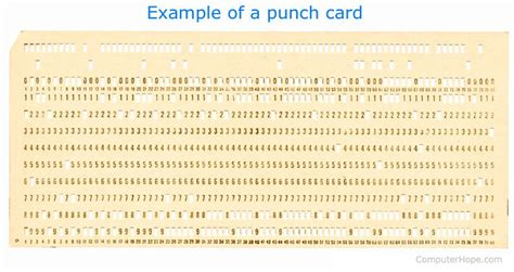 card punches what is a punch card