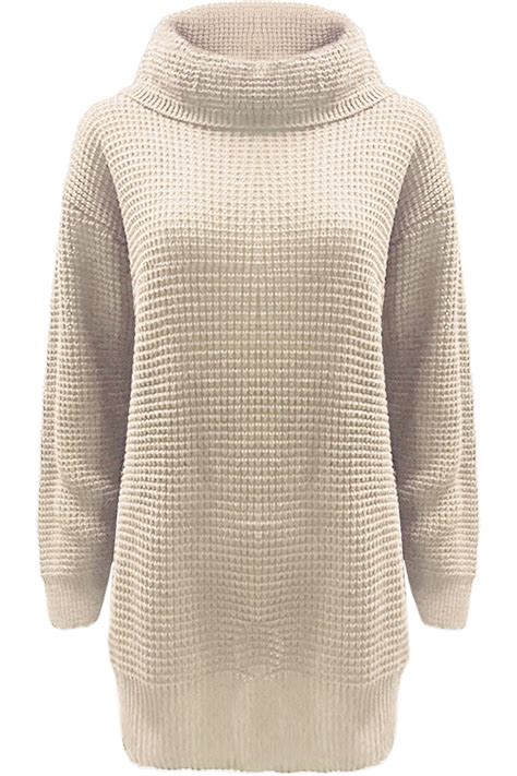 chunky knit jumper womens womens chunky knitted sleeve oversized roll