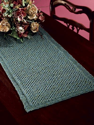 free knitted table runner patterns free table treatment knitting patterns lattice table runner