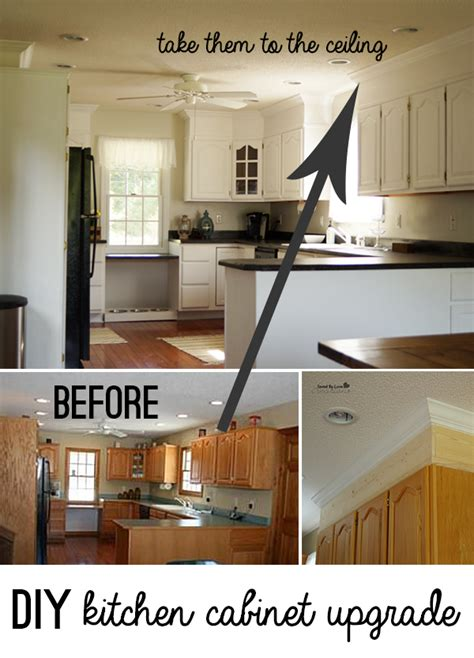 painting kitchen cabinets diy diy kitchen cabinet upgrade with paint and crown molding