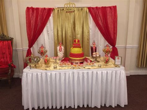 Prince baby shower candy/cake table and backdrop   Royal Baby Shower & Party   Pinterest