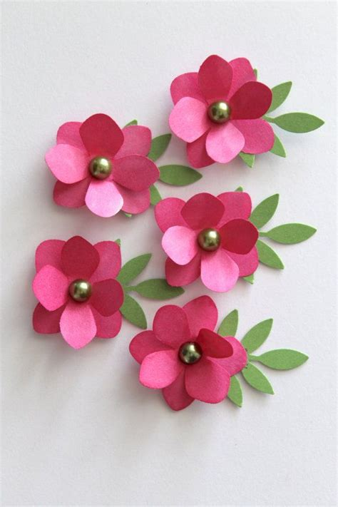 paper flowers for card 3136 best fabric and paper flowers how to use them