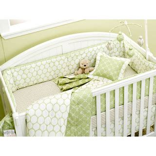 green and white crib bedding how much babygaga