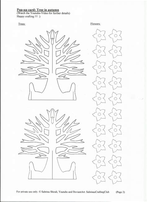 how to make a pop up tree card pop up card tree page 2 by sabrinascraftingclub on deviantart
