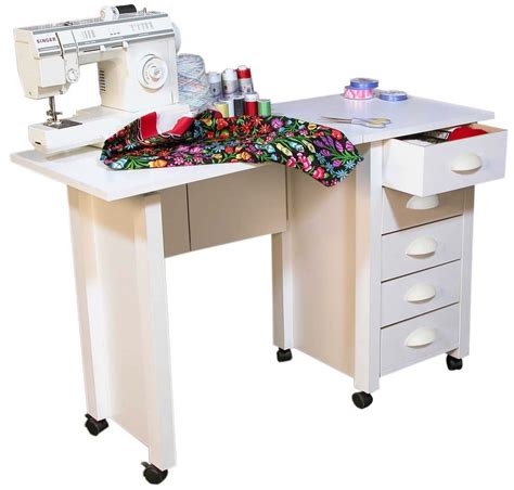 craft tables for mobile folding desk sewing machine craft table home sewing