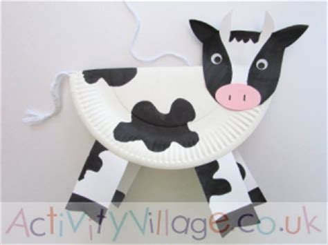 paper plate cow craft paper plate cow template pictures to pin on
