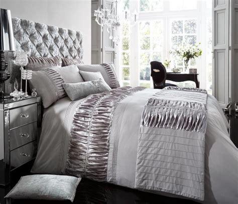 silver bedding set luxury bed linen duvet quilt cover pillowcase set