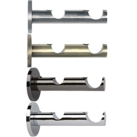Brass Curtain Tie Backs by Neo Double Brackets For 19mm And 28mm Poles