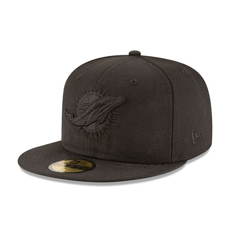new era black on black miami dolphins black on black 59fifty new era