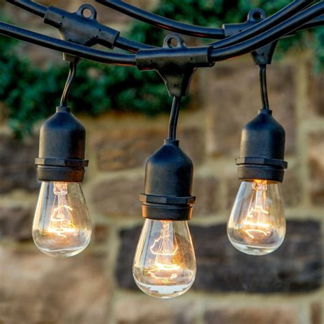 outdoor hanging string lights outdoor vintage style edison hanging string lights