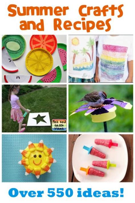 summer food crafts for summer crafts recipes family crafts