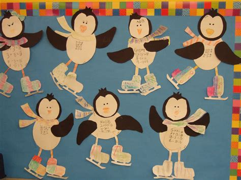 math crafts for penguin math craft practicing fact families in