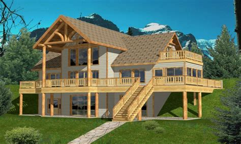 house plans with rear view hillside house plans hillside house plans rear view lake house blueprints treesranch