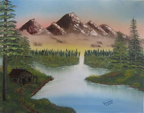 bob ross paintings mountains bob ross mountain retreat 86092 painting bob ross
