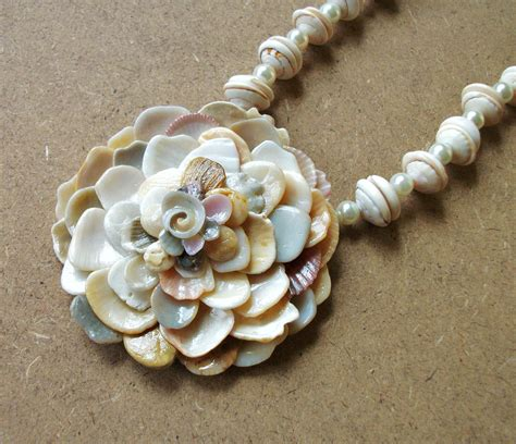 how to make jewelry from seashells seashell flower pendant necklace seashell jewelry